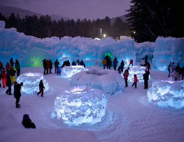 Ice Castles in New Hampshire February 2020